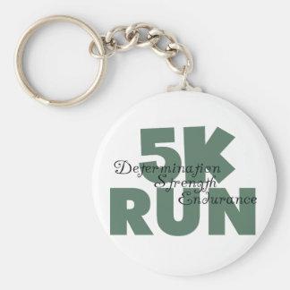 Porte-clés fonctionnement vert de sports couru par 5K