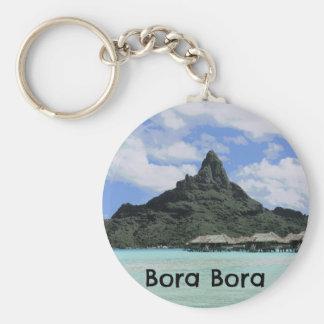 Porte-clés Formation rêveuse d'atoll de Bora Bora Tahiti de