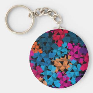 Porte-clés Formes 3D géométriques colorées