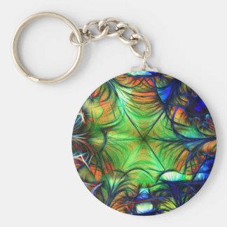 Porte-clés Fractale multicolore