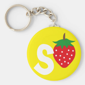 Porte-clés fraise