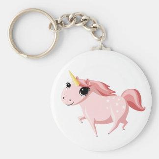 Porte-clés Fraise la licorne rose