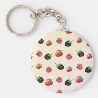 Porte-clés Framboise, fraise, Blackberry : fruit d'été
