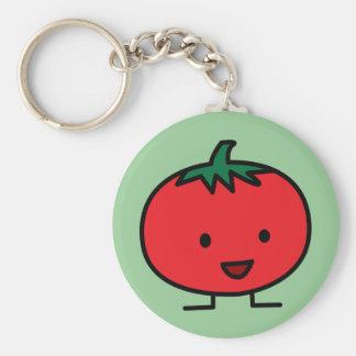 Porte-clés Fruit végétal rouge de tomate heureuse