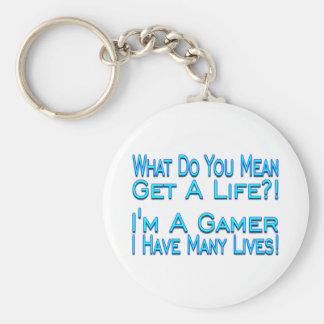 Porte-clés Gamer de beaucoup de vies