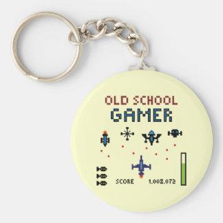 Porte-clés Gamer de vieille école - vaisseau spatial - porte