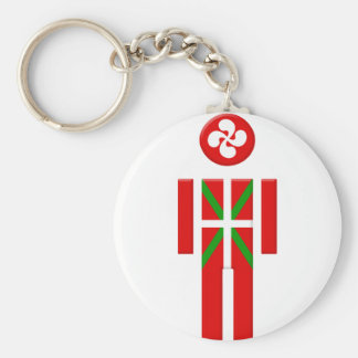 Porte-clés Garçon Basque drapeau Euskadi