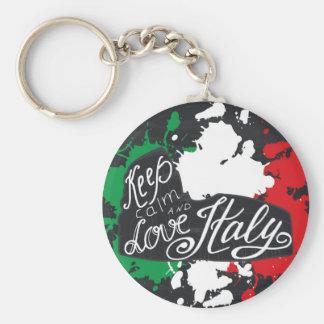 Porte-clés Gardez le calme et aimez l'Italie