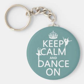 Porte-clés Gardez le calme et dansez sur (ballet) (toutes les
