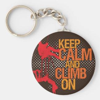 Porte-clés Gardez le calme et élevez-vous sur le porte - clé
