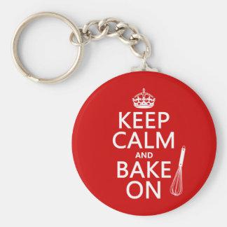 Porte-clés Gardez le calme et faites cuire au four dessus