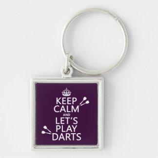 Porte-clés Gardez le calme et jouons les dards
