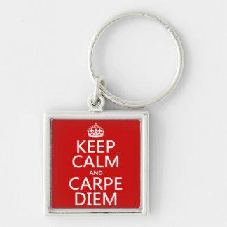 Porte-clés Gardez le calme et le Carpe Diem