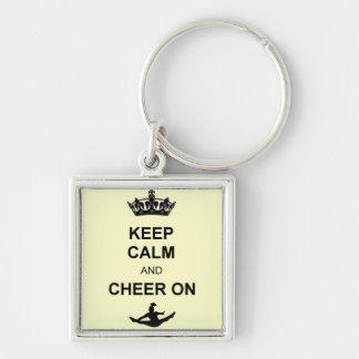 Porte-clés Gardez le calme et l'encouragez dessus