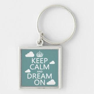 Porte-clés Gardez le calme et rêvez dessus (des nuages) -