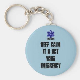 Porte-clés Gardez le calme que ce n'est pas votre urgence