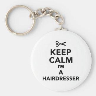 Porte-clés Gardez le calme que je suis un coiffeur