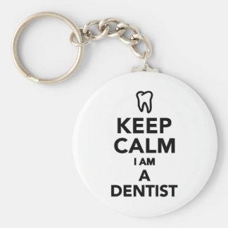 Porte-clés Gardez le calme que je suis un dentiste