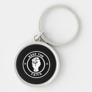 Porte-clés Gardez le porte - clé de prime de vinyle de la foi