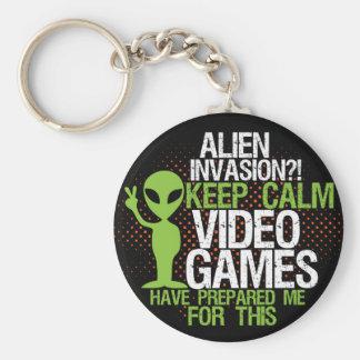 Porte-clés Gardez le porte - clé drôle de Gamers d'invasion