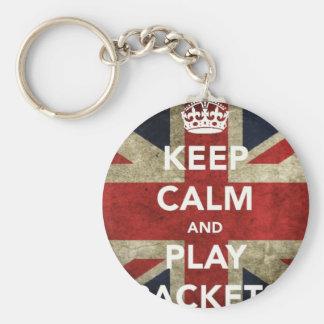 Porte-clés Gardez les raquettes de calme et de jeu