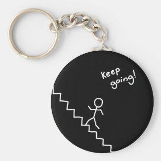 """Porte-clés """"gardez"""" l'homme allant de bâton sur le porte -"""