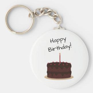 Porte-clés Gâteau de chocolat de joyeux anniversaire
