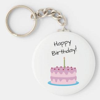 Porte-clés Gâteau de rose de joyeux anniversaire
