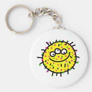 Porte-clés Germe jaune de bande dessinée