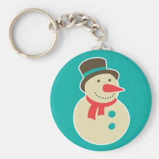 Porte-clés Givré le porte - clé de bonhomme de neige