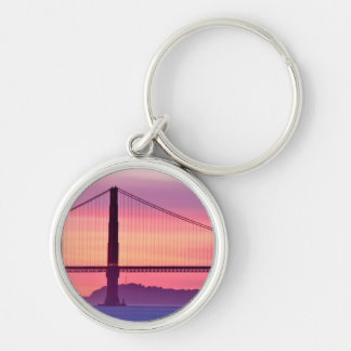 Porte-clés Golden gate bridge au coucher du soleil