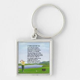 Porte-clés Golf - poème de père