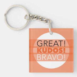 Porte-clés Grand ! Félicitations ! Bravo ! Porte - clé carré,