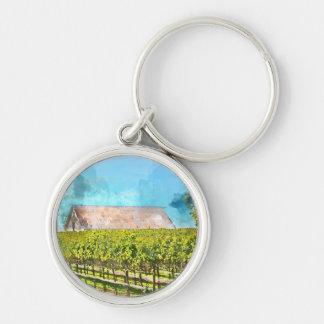 Porte-clés Grange dans un vignoble dans Napa Valley la