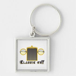 Porte-clés Gril vintage brillant de chrome de voiture de type
