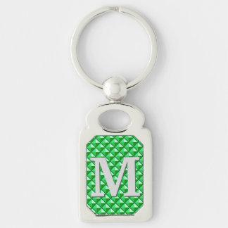 Porte-clés Grille cloutée par émail de vert vert avec le