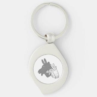 Porte-clés Gris de chèvre de Billy de silhouette de main