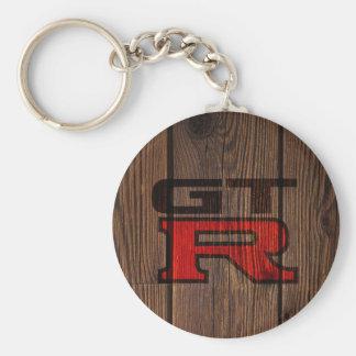 Porte-clés GTR simulé en bois