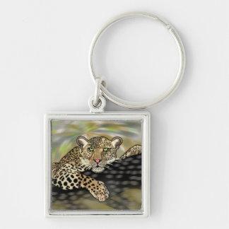 Porte-clés guepard dans un arbre