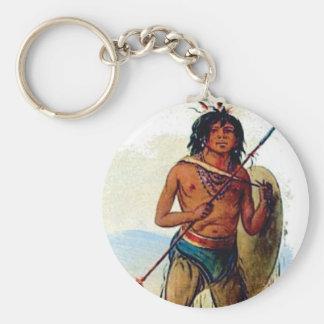 Porte-clés guerrier chested nu