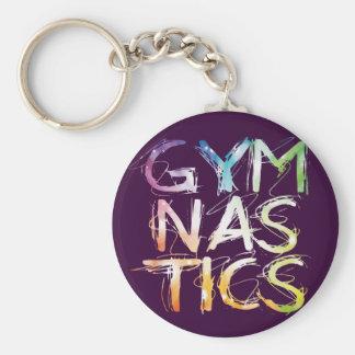 Porte-clés Gymnastique pourpre Starburst de personnaliser