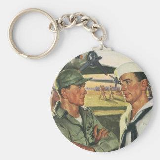 Porte-clés Héros patriotes vintages, effectifs militaires