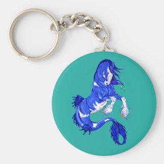 Porte-clés Hippocampe bleu de Clydesdale d'imaginaire
