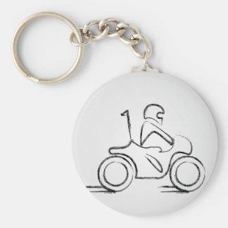Porte-clés Homme sur un scooter
