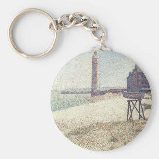 Porte-clés Hospice et phare, Honfleur par Georges Seurat