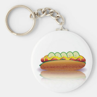 Porte-clés hot-dog