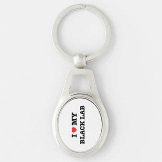 Porte-clés I coeur mon laboratoire noir