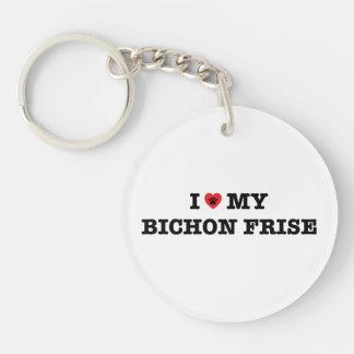 Porte-clés I coeur mon porte - clé d'acrylique de Bichon