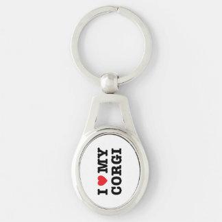 Porte-clés I coeur mon porte - clé de corgi