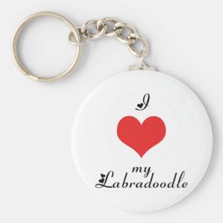 Porte-clés I coeur mon porte - clé de Labradoodle